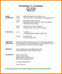 Simple Resume Template Word Best Of Simple Resumes Examples Basic Resume Objective Simple Resume