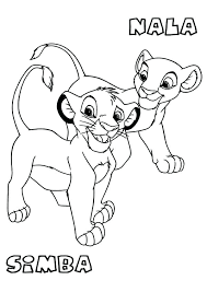 simba coloring pages pride baby free printable