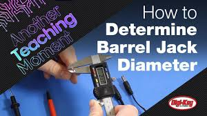 Dc Power Plug Size Chart How To Easily Determine Barrel Jack Diameter Another Teaching Moment Digikey