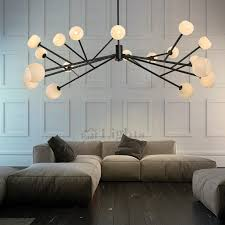 lighting pendants glass. 18-Light Glass Shades Contemporary Wrought Iron Pendant Lighting Chandelier Lighting Pendants Glass