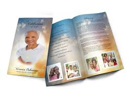 Design Your Own Funeral Program Custom Design Your Funeral Programs Or Your Memorial