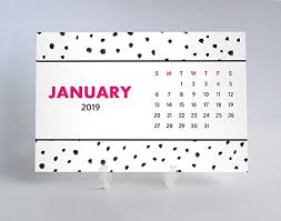 easy calendars amazon com 2019 desk calendar easy to read playful polka