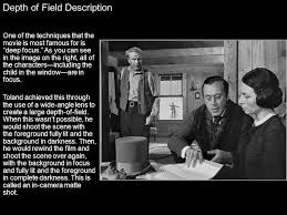 citizen kane scene analysis ppt video online  4 depth of field description