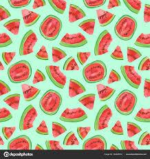 Fruit Pattern Fascinating Trendy Fruit Pattern Artistic Watermelon Background Watercolor