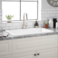 33 Algren Drop In Granite Composite Sink Cloud White Kitchen