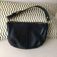 Coach black leather shoulder bag small medium Very good condition. Coach  Bags Shoulder Bags