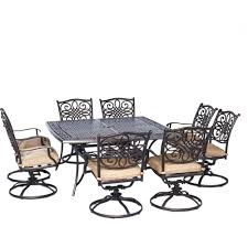 Hanover Traditions 9-Piece Aluminium Square Patio Dining Set with ...