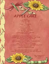free printable apple cake recipe for cookbook