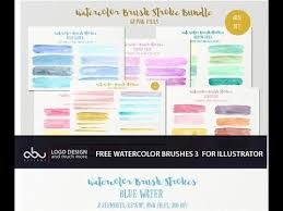 free watercolor brushes illustrator free watercolor brushes for illustrator part 3 youtube