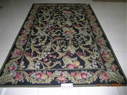 needlepoint rugs 6 x 9 black field black border authentic gc3nee53