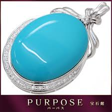 it is jewelry extra large turquoise 89 35ct diamond 0 48ct k18wg pendant top 18 karat gold white gold turquoise diagram with the sorting used
