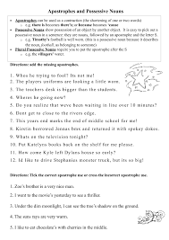 Possessive Apostrophe Worksheet Free Worksheets Library | Download ...