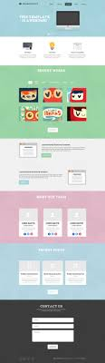 one page website template free psd template flat one page website bloom web design web