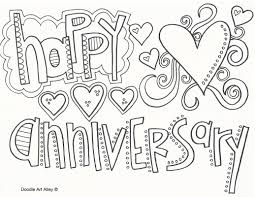 happy anniversary coloring pages. Perfect Happy Happy Anniversary Throughout Coloring Pages Doodle Art Alley