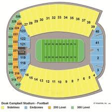 Doak Campbell Seating Chart Rows Doak Campbell Stadium Interactive Seating Chart Stadium