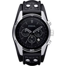fossil coachman black dial chronograph black leather cuff mens fossil coachman chronograph black dial leather cuff mens watch ch2586