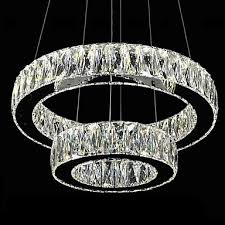 creative of large modern ceiling lights led crystal chandelier lights modern lighting two rings d2040 k9