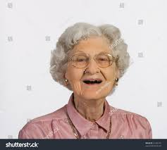 Old Woman Glasses Gray Hair Happy Stock Photo 61458193 Shutterstock