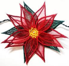 Poinsettia Designs Ith 3d Poinsettia Embroidery Design