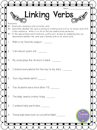 Awesome Collection of Linking Verbs Worksheets For Resume ...