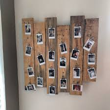 diy picture frame woodworking elegant pallet wood polaroid picture frame thing diyscoveries of diy picture frame