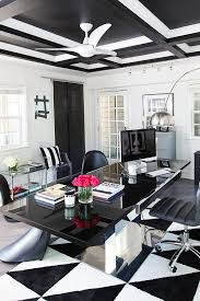 black and white office decor. Get The Look: Hollywood Glam Black And White Office Space Decor |