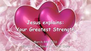 jesus explains being in love me is your greatest strength being in love me is your greatest strength ❤ message from 22nd 2016