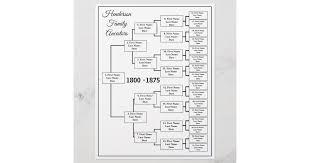 15 Generation Genealogy Chart Five Generation Genealogy Chart Zazzle Com