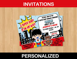 Marvelous Superhero Baby Shower Decorations 13 On Baby Shower Superhero Baby Shower Invitation