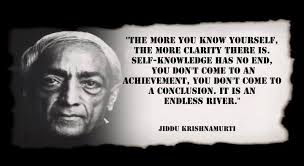 Krishnamurti Quotes Impressive Jiddu Krishnamurti Quote Self Knowledge Relax And Release