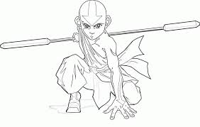 Small Picture Avatar The Last Airbender Aang Coloring Page Aang Coloring Pages