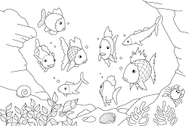 obsession rainbow fish coloring pages preers mainstream inspiration