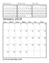 yearly printable calendar 2018 download 2018 printable calendars