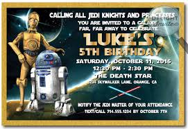star wars birthday invite template star wars personalized birthday invitations star wars personalized