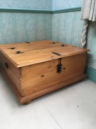 mexican pine double storage chest