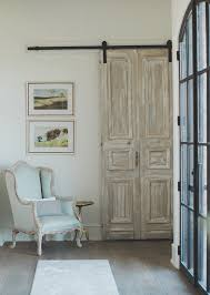 reclaimed door furniture. Antique French Door Hung With Barn Hardware Whitewashed Reclaimed Furniture I