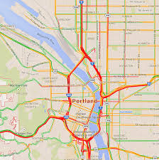 busiest roads in portland oregon during rush hour traffic