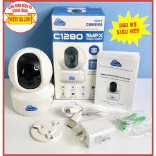 Camera wifi C1280 2.0MPX - XOAY 360 - H265X thông minh xoay 360 độ Chính  Hãng Vitacam - Camera chống trộm
