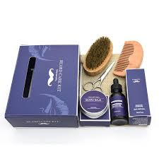 free customized private label beard care gift beard grooming kit for valentines gifts