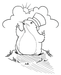 Groundhog Day Coloring Pages Free Groundhog Day Coloring Pages ...