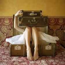 vintage luggage. vintage suitcases magazine photo luggage