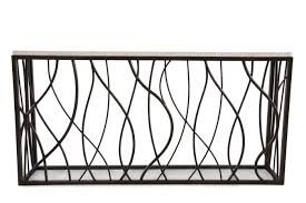 iron console table. Images Woven Sides Transitional Console Table In Dark Bronze Iron