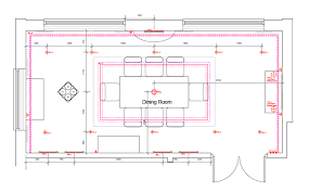 Lighting Scheme General Lighting This Is Represented By The 10 Down Lights In Two Rows Above And Below Dining Table Isnu0027t Alway Necessary Scheme