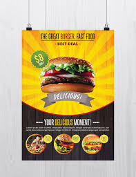 fast food psd flyer template net fast food is a psd flyer template to