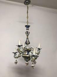 vintage french porcelain flower chandelier 1