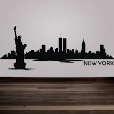 new york city skyline silhouette wall decal custom vinyl art stickers the big apple home decoration wall decor mural 9 h x24 w in wall stickers from home  on new york skyline wall art stickers with new york city skyline silhouette wall decal custom vinyl art