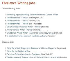 "places to land lance writing gigs online elna cain what they do is post a ""blog post"" links to potential lance writing jobs jobs are curated from other job boards and from around online"