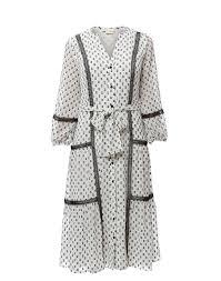 Sandrelli Black And White Dot Printed Dress