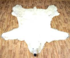 white bear rug white bear rug large polar skin with head large faux fur rug white