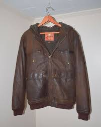 details about the territory ahead men s small leather jacket with hood